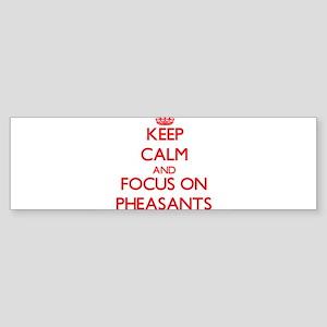 Keep Calm and focus on Pheasants Bumper Sticker