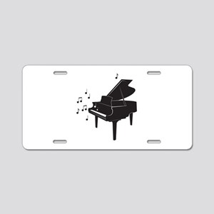 Grand Piano Aluminum License Plate