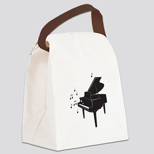Grand Piano Canvas Lunch Bag