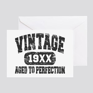 Personalize Vintage Aged To Perfection Greeting Ca
