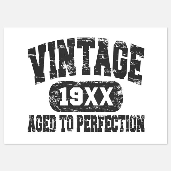 Personalize Vintage Aged To Perfection Invitations