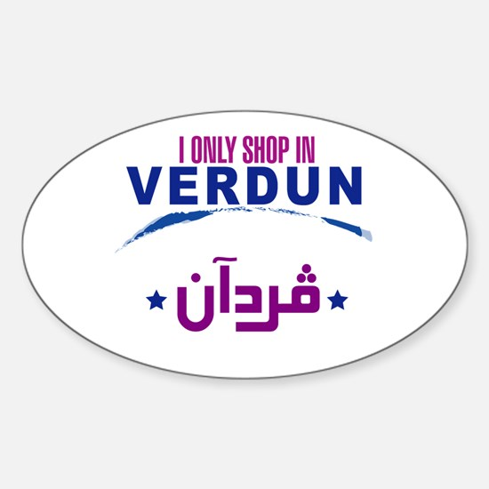 Shopping in Verdun | Oval Decal