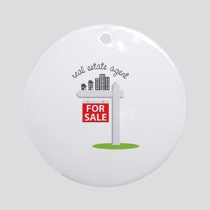 Real Estate Agent Ornament (Round)