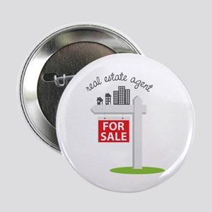 """Real Estate Agent 2.25"""" Button (10 pack)"""