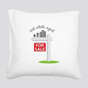 Real Estate Agent Square Canvas Pillow