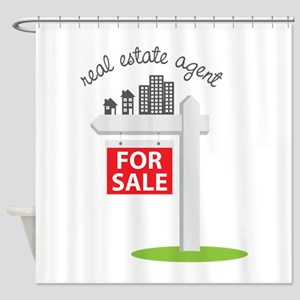 Real Estate Agent Shower Curtain