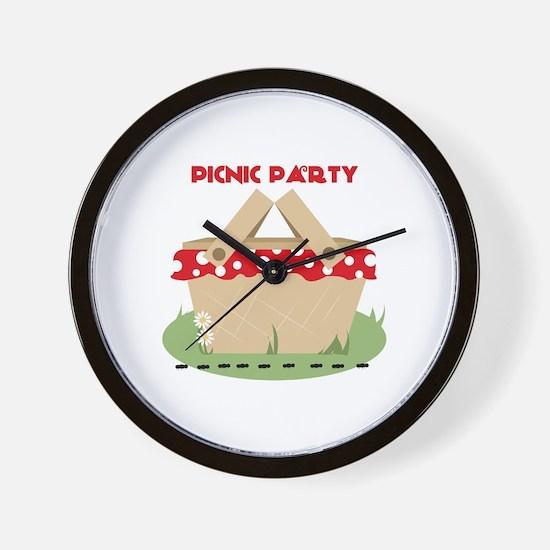 Picnic Party Wall Clock