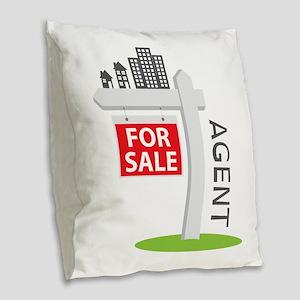 Agent Burlap Throw Pillow
