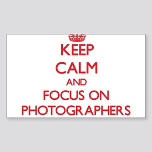 Keep Calm and focus on Photographers Sticker