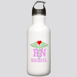 Personalized RN heart caduceus Water Bottle