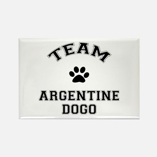 Team Argentine Dogo Rectangle Magnet