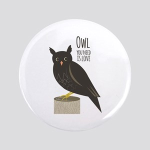 "Owl Love 3.5"" Button"