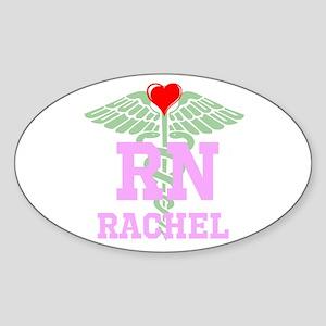 Personalized Rn Heart Caduceus Sticker