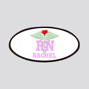 Personalized RN heart caduceus Patches