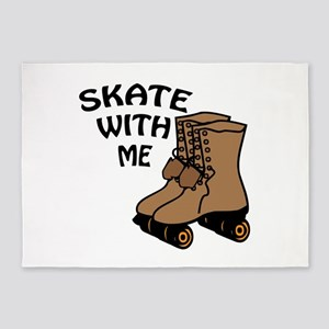 Skate With Me 5'x7'Area Rug