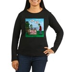 Zombie Corn Maze Women's Long Sleeve Dark T-Shirt