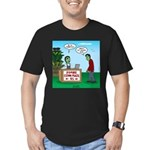 Zombie Corn Maze Men's Fitted T-Shirt (dark)