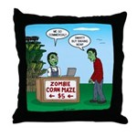 Zombie Corn Maze Throw Pillow