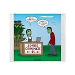 Zombie Corn Maze Throw Blanket