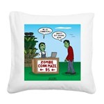 Zombie Corn Maze Square Canvas Pillow