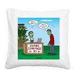 Zombie Corn Maze Square Canvas Pillow