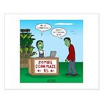 Zombie Corn Maze Small Poster