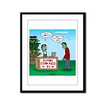 Zombie Corn Maze Framed Panel Print