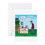 Zombie Corn Maze Greeting Cards (Pk of 10)