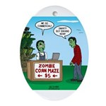 Zombie Corn Maze Oval Ornament