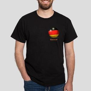 Germany Flag Soccer Ball (PP) Dark T-Shirt