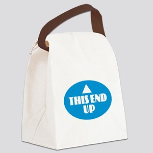 This End Up - Blue Canvas Lunch Bag