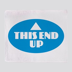 This End Up - Blue Throw Blanket