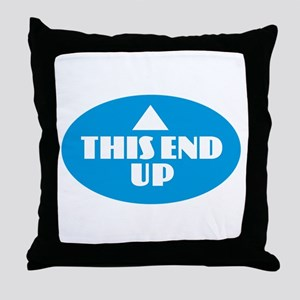 This End Up - Blue Throw Pillow