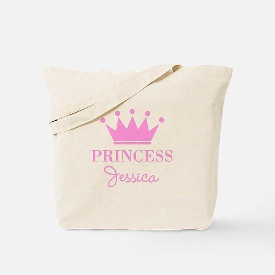 Personalized pink princess crown Tote Bag