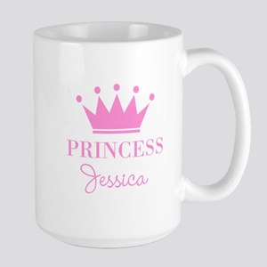 Personalized pink princess crown Mugs