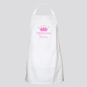Personalized pink princess crown Apron