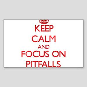 Keep Calm and focus on Pitfalls Sticker