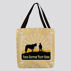 Personalized Western Polyester Tote Bag