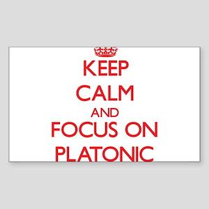 Keep Calm and focus on Platonic Sticker