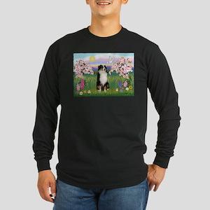 Blossoms & Aussie (#2) Long Sleeve Dark T-Shirt