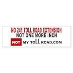 No 241 Toll Road Extension Bumper Sticker