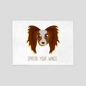 Dog Wings 5'x7'Area Rug