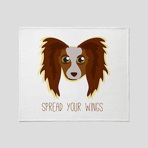 Dog Wings Throw Blanket