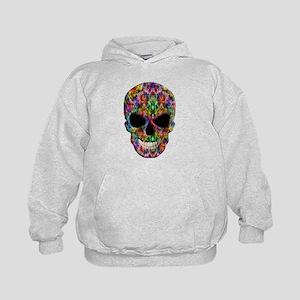 Colorful Fire Skull Hoodie
