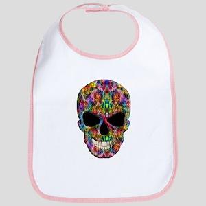 Colorful Fire Skull Bib