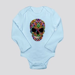 Colorful Fire Skull Body Suit