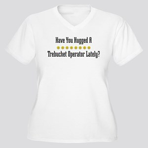 Hugged Trebuchet Operator Women's Plus Size V-Neck