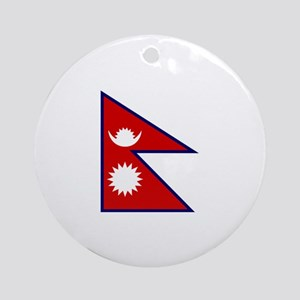 nepal flag Ornament (Round)