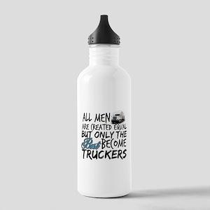 Best Become Truckers Water Bottle
