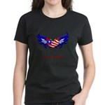 Support Our Troops Heart Flag Women's Dark T-Shir